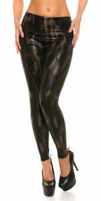 Thermo Leggings im Wetlook Reptilprint Gr. S/M