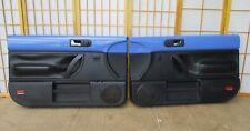 98-10 VW Volkswagen New Beetle BLUE VORTEX Left Right Power Door Panel Pair Set