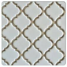 "Fujiwa Porcelain Arabesque Pattern Tile -LT-1010 MATTE WHITE 2"" 1 .08 SQ FT PAC2"