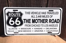 Route 66 Vehicle Traveled All Wholesale Novelty License Plate Bar Wall Decor