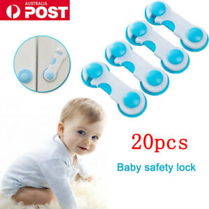 20pcs Adhesive Child Baby Kids Cute Safety Lock For Door Drawer Cupboard Cabinet