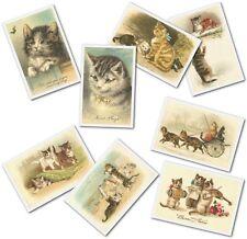 450 Vintage Victorian & Edwardian Cat Images Ideal For Scrap Booking, Prints Etc