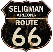 Seligman, Arizona Route 66 Shield Metal Sign Man Cave Garage 211110014020