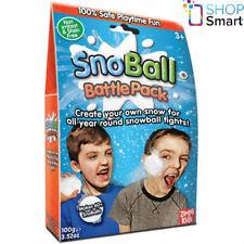 Snoball Battle Pack Artificial Snow Balls White Christmas Kids Children New