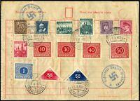 Occupied Czechoslovakia Alt Rothwasser Czech Stamps Nazi Souvenir Postage 1938