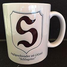 """German WW2 Coffee / Tea Mug-Luftwaffe JAGDGESCWADER 26 """"SCHLAGETER"""" (JG26)- New"""