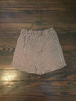 Fireflies & Fairytales Boutique Girl's VGUC Aqua & Brown Check Shorts 4