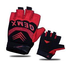 Sports Fingerless Gloves Cycling Half Finger Short Gloves For Gym Bike Riding UK
