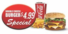 Personalized Double Cheese Burger Special Banner 4ft x 2 ft