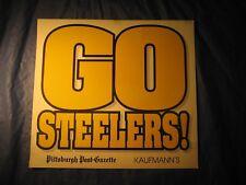 STEELERS  PAPER  ADVERTISING