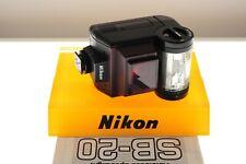 Nikon SB-20 Speedlight flashgun. Nikon SLR. MINT- condition. Bounce. +manual