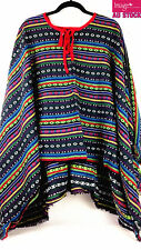 Mexican Poncho Mexico Cowboy Bandit Wild West Fancy Dress Costume Party 12467