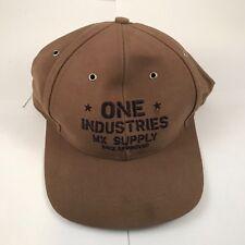 One Industries Brown Hat Vinatage New Old Stock L@@K Motocross Racing