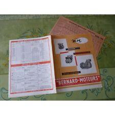 Bernard Moteurs, groupes moto-pompe et électrogènes, catalogue brochure dépliant