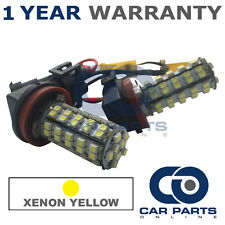 2X CANBUS YELLOW H8 60 SMD LED FOG LIGHT BULBS FOR KIA CARENS CEED CEE'D SEDONA