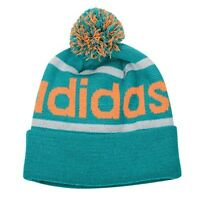 NEW Adidas Originals Mercer Ballie Pom Winter Hat Aqua Turquoise Orange Q45349
