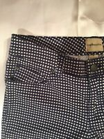 Bass G.H. co. Skinny Jeans Size 0 Ankle Checker Checks Blue White