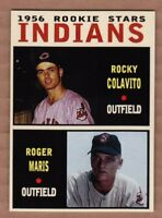 Roger Maris & Rocky Colavito '56 Cleveland Indians rookie stars Pastime series