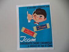 advertising Pubblicità 1963 CIOCCOLATO ICOM