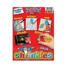 Shrink Art Shrinkles Shrinkies - Shrink Plastic Frosted 50 Sheets Classroom Pack