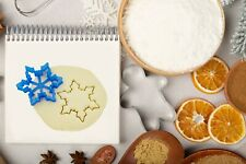 Snowflake Cookie Cutters Christmas -8cm- Xmas Biscuit Dough Icing Shape - type B