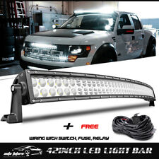 42inch Led Work Light Bar Flood Spot Offroad Driving SUV ATV Truck Boat UTV 240W
