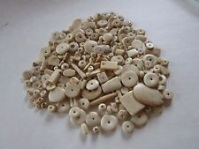 1/2 POUND BAG ASSORTED WHITE BUFFALO BONE BEADS GRAB BAG JEWELRY CRAFTS