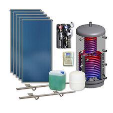 Thermische Solaranlage 5 Kollektoren 600 l Hygienespeicher Solarpaket Komplett