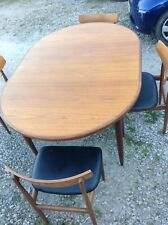 Vintage Retro G Plan Fresco Oval Dining Table and 4 Chairs