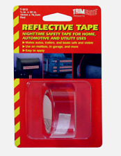 "TRIMBRITE Fluorescent RED Reflective Tape Trailers Bumpers 0.75"" x 30"" T1813"