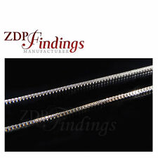2 Meter Sterling Silver 925 Box Square Snake Chain Thickness 0.7mm (7540309)
