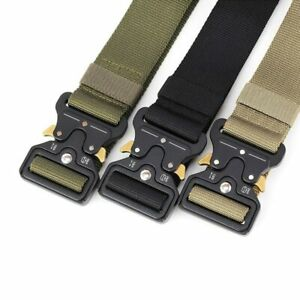 Nylon Men's Belt Tactical Male Waistband Jeans Military Outdoor Big Sizes