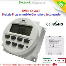 TIMER DIGITALE PROGRAMMABILE 12V 12 VOLT PER CACCIA NAUTICA SOLARE E LED TDS-12