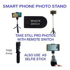 Designer bluetooth mobile camera tripod stand selfie stick phone stand w/ remote