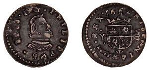 8 COPPER MARAVEDÍS / COBRE. PHILIP IV - FELIPE IV. 1662. MADRID. VF+ / MBC+.