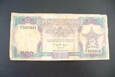 ANCIEN BILLET  GHANA   - 500 CEDIS  1991  - A VOIR  - !!!