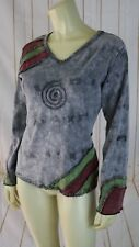 The Collection Royal Top S Cotton Stretch Knit Pullover Tie-dye Reverse Seam