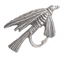 Fishing Fly Angling Pin Badge Made in Polished English Pewter