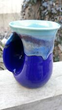 Clay In Motion Neher Pottery Handwarmer Mug Left Handed Mystic Water