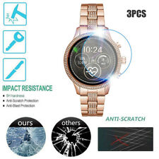 3PCS Clear Film Tempered Glass Screen Protector For Michael Kors MKT5068 Watch