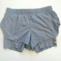 Nike Women Elevate 2-in-1 Running Shorts - AJ4197 - Blue Gray 445 - S -  NWT