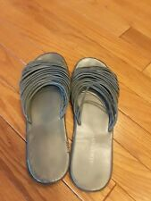 COLLIN STUART WOMEN'S GRAY SANDALS FLIP FLOPS SIZE 10M