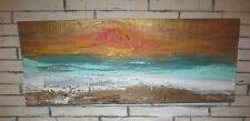 California Art Rustic Modern Reclaimed Barnwood Sunset Coastal Wood Made In USA
