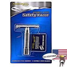 Assured Double Edge Stainless steel Shaving Safety Razor - Men's Classic. New.