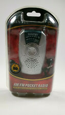 New Sentry Pocket Radio with Built in Speaker and Earbuds AM FM PR799