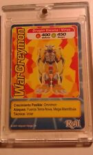!!!Digimon card super mega rare Wargreymon 2nd season. Roll collection promo!!!!