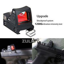 Tactical Pistol Mini Red Dot Sight Holographic Scope RMR For Glock 17 19 9x19mm