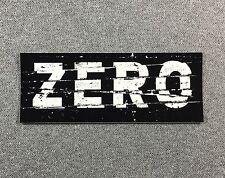 ZERO BAN Skateboard Sticker LARGE 4.8in si