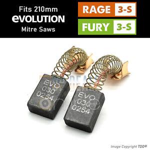 Evolution RAGE 3s & Fury 3-S Carbon Brushes 210mm Sliding Mitre Saw 030-0254