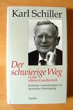 """Karl Schiller   """"Der schwierige Weg""""    EA"""